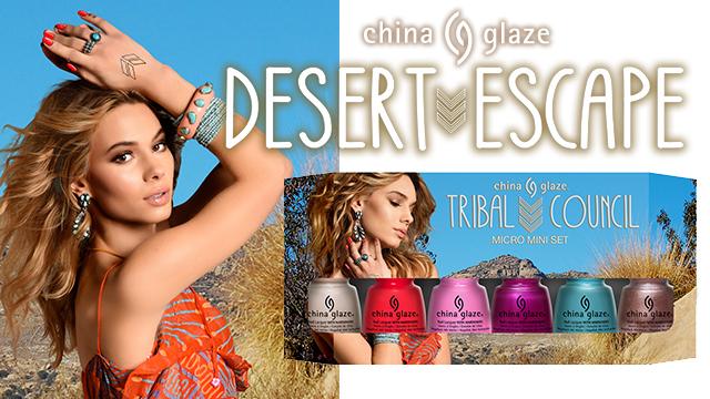 <i><a href='/magazin/?c=4005'><h3>Královnou pouště s kolekcí Desert Escape od China Glaze</h3><p>Hřejivé paprsky slunce, azurově modré nebe, třpyt zlatavého písku. Krásou pouště se inspirovali tvůrci značky China Glaze v nové kolekci Desert Escape. </p></a></i>
