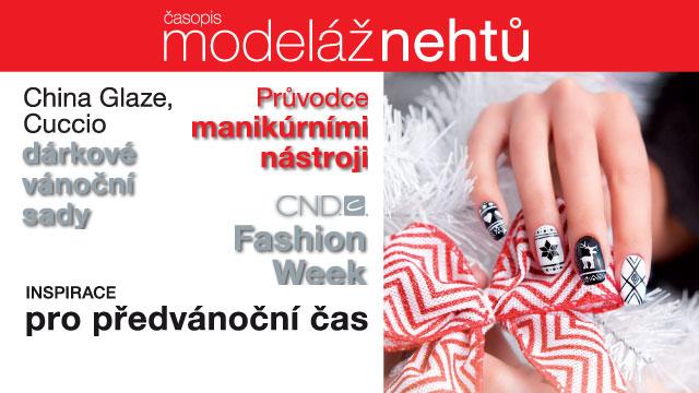 <i><a href='/magazin/?c=3121'><h3>Časopis Modeláž nehtů listopad/prosinec 2014</h3><p>Nejnovější informace z oblasti nehtové kosmetiky. 116 stran plných ZIMNÍCH A SVÁTEČNÍCH inspirací, postupů, rad, článků a novinek ze světa nehtové modeláže. Vychutnejte si tradiční kouzlo Vánoc...</p></a></i>