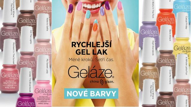<i><a href='/magazin/?c=6319'><h3>Nové odstíny Geláze</h3><p>Představujeme 14 nových odstínů 2-fázového gel-lakového systému Geláze.</p></a></i>